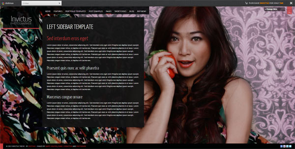 Invictus – Photographer Portfolio WordPress Theme
