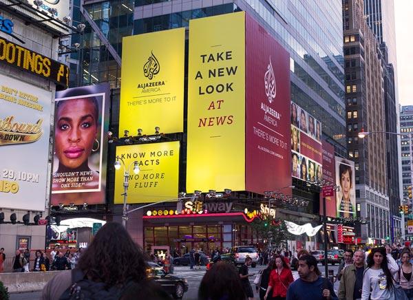 Al Jazeera America - Times Square Billboard