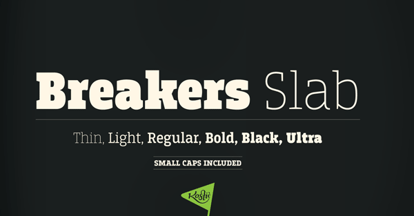 Breakers Slab Serif Font Family by Nikola Kostić
