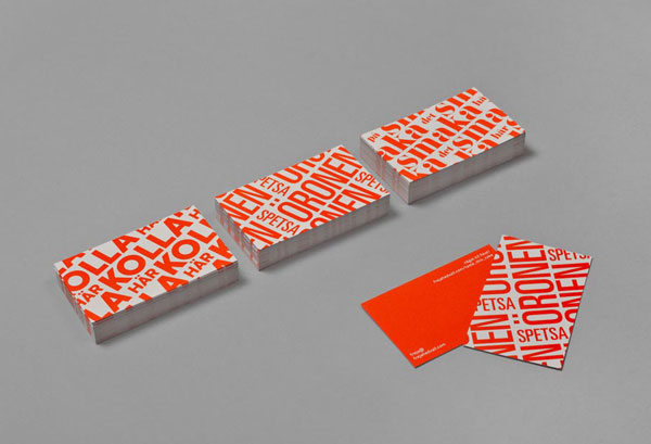 Self promotional campaign by freja hedvall for Promotional business cards