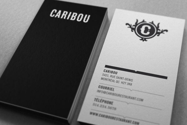 Caribou Business Cards by Maxime Brunelle