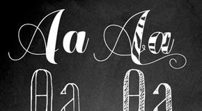 Chameleon Hand Lettering Font Collection by Fontforecast