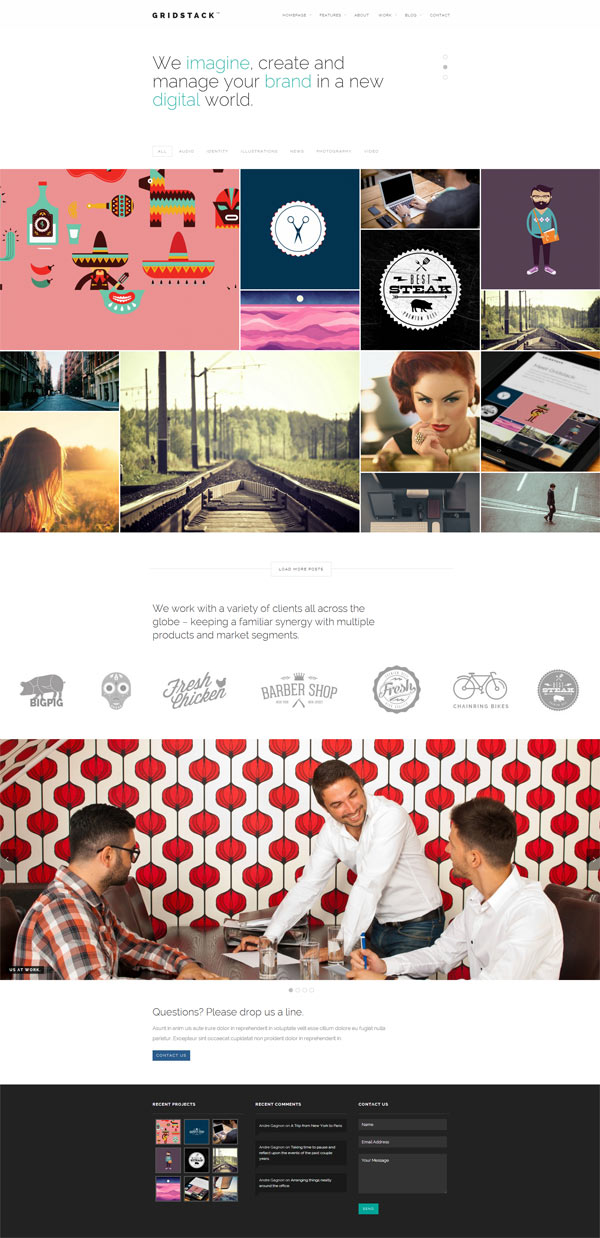GridStack – Responsive Agency WordPress Theme by Andre Gagnon