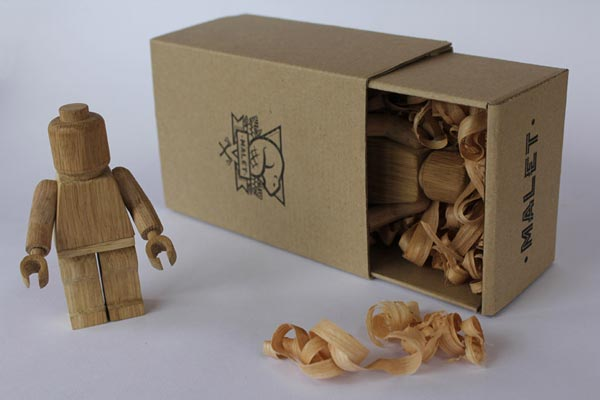 Handmade Lego Inspired Wooden Art Toys by Thibaut Malet