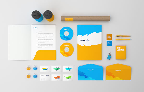 HappyFly boutique travel agency brand design by Realist