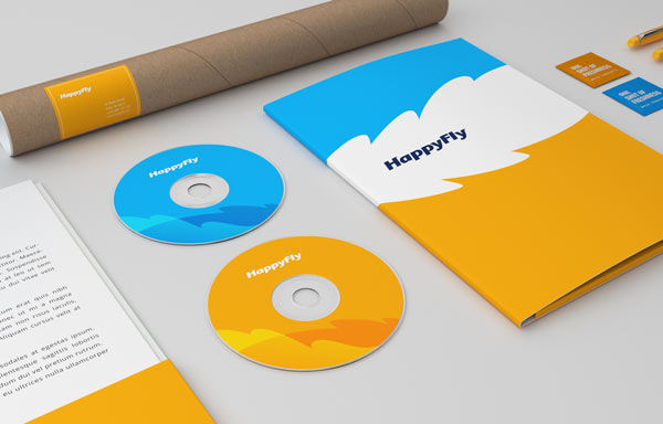 HappyFly boutique travel agency visual identity by Realist