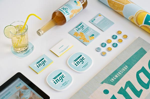 Inge Ginger Syrup Corporate Identity and Packaging Design by Zeichen & Wunder
