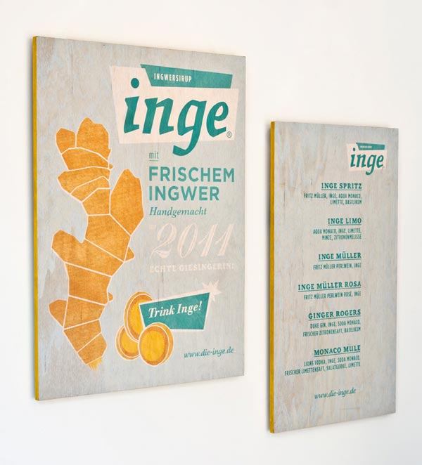 Inge Ginger Syrup Corporate Identity by Zeichen & Wunder