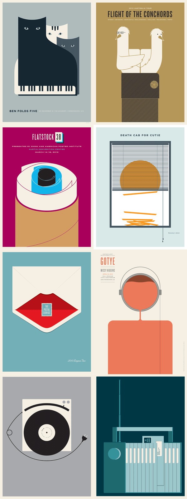 Jason Munn - Selected Gig Posters