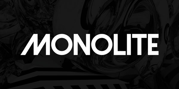 Monolite Geometric Sans Serif Display Font by Thinkdust