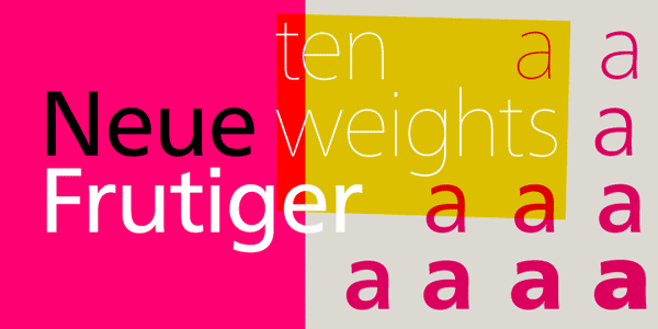 Neue Frutiger Font Family by Linotype
