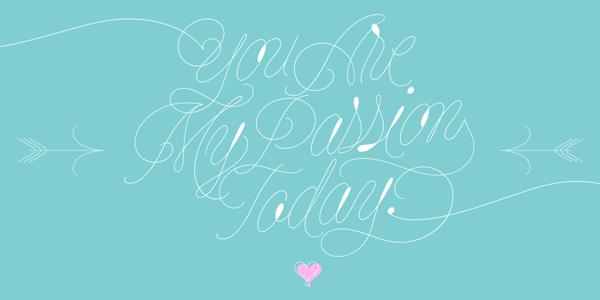 String - monoline script display font by Lián Types