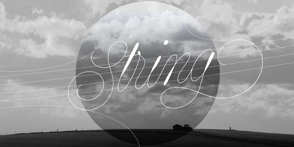String - trendy monoline font by Lián Types