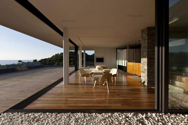 Terrace of the Plane House by K Studio
