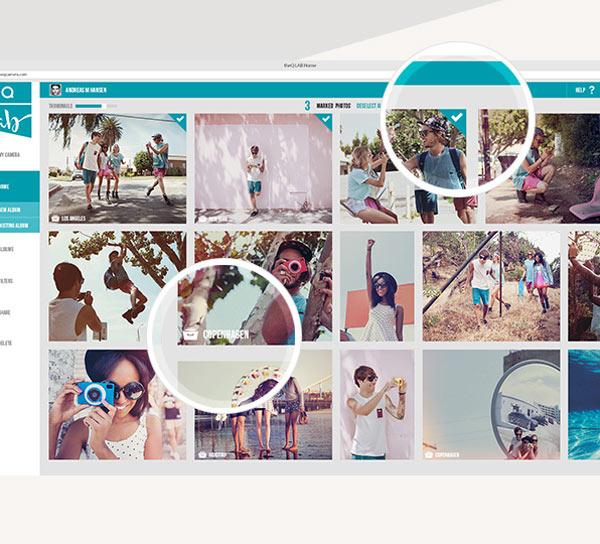 TheQ social camera - Web Design