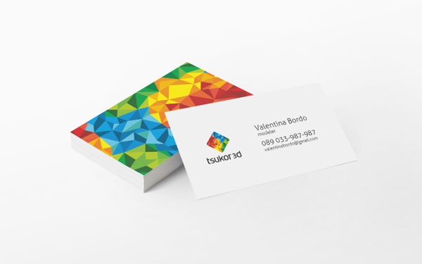 Tsukor 3D Business Cards by Happy Design