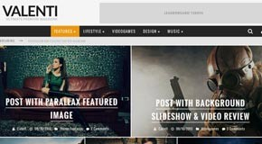 Valenti - WordPress HD Magazine Theme by Cubell