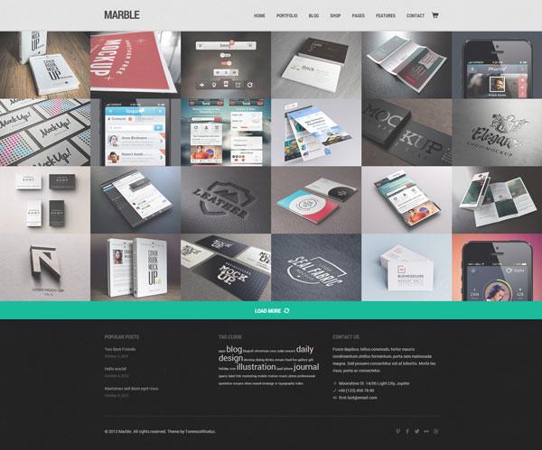 Marble - Flat Creative WordPress Theme