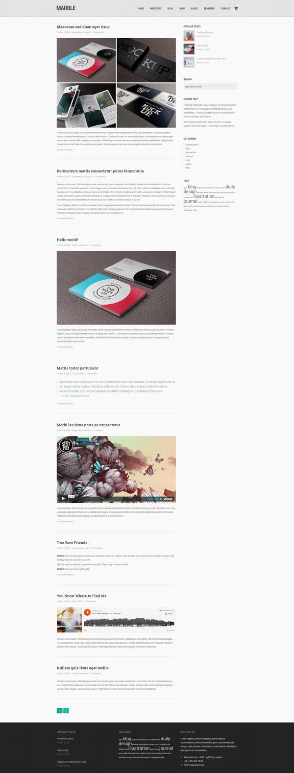 Marble – Flat Creative WordPress Theme
