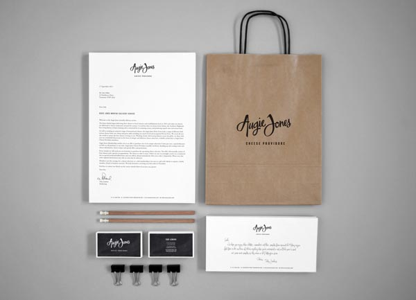 Augie Jones Branding Material by Mijan Patterson