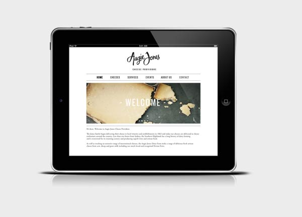 Augie Jones Website Design by Mijan Patterson