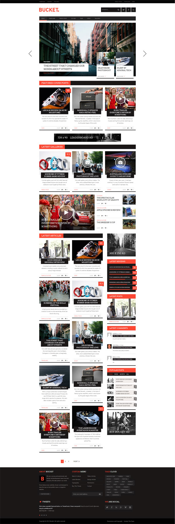 Bucket Magazine Style Wordpress Blog Theme