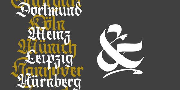 Berliner Fraktur – Black and Broken Font Family by Resistenza