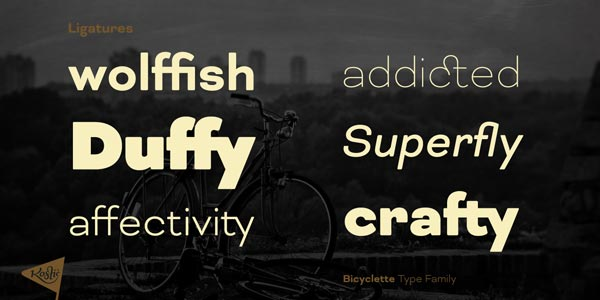 Bicyclette - ligatures