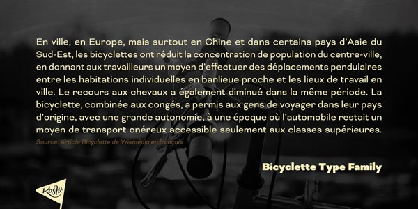 Bicyclette - text sample