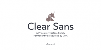Clear Sans - Geometric Sans Serif Font Family by Positype