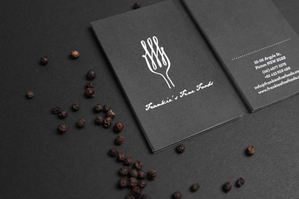 Frankie's Fine Foods Business Cards by Yerevan Dilanchian