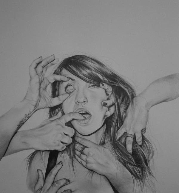 Graphite on Paper Drawing by Hannah Scott
