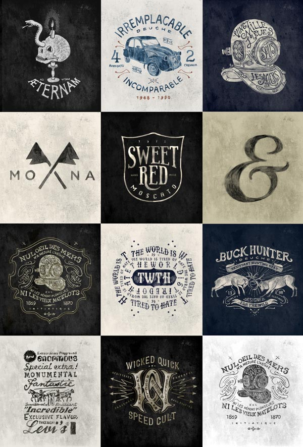 Hand Drawn Vintage Brand Marks by BMD