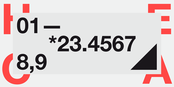 Helvetica Neue - Numbers