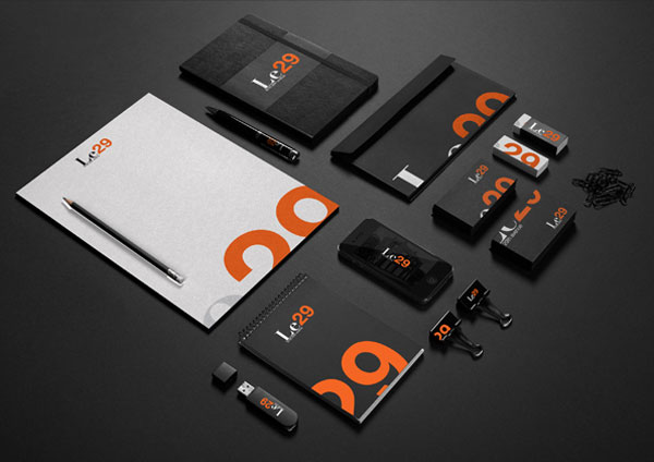Le29 Branding Material by Juan Alfonso Solís