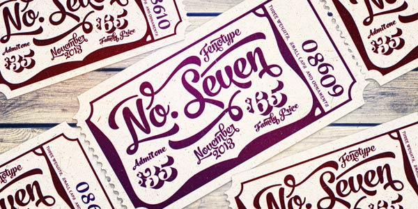 No. Seven - brush style script family by Fenotype