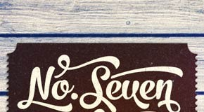 No. Seven - brush style script font family by Fenotype
