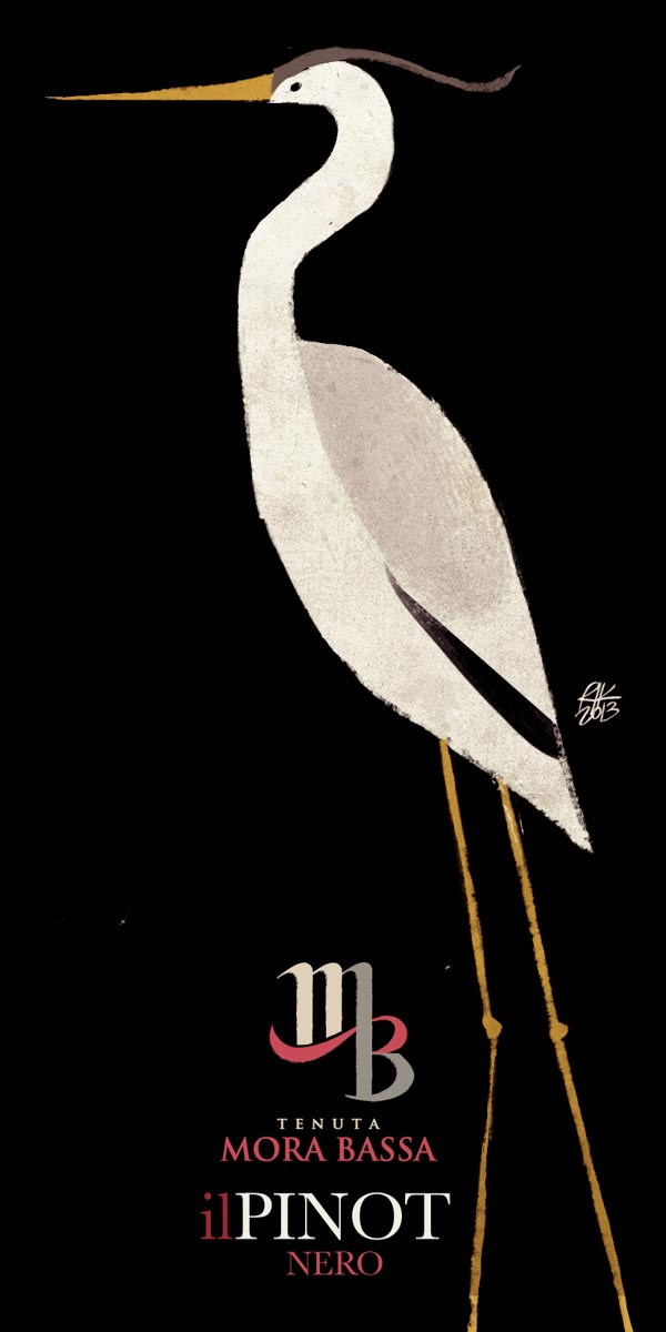 Tenuta Mora Bassa - Pinot Nero - Wine Label Illusteation by Riccardo Guasco
