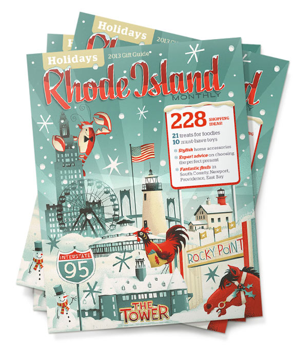 The Rhode Island Monthly – Holidays Cover Illustration by Steve Simpson