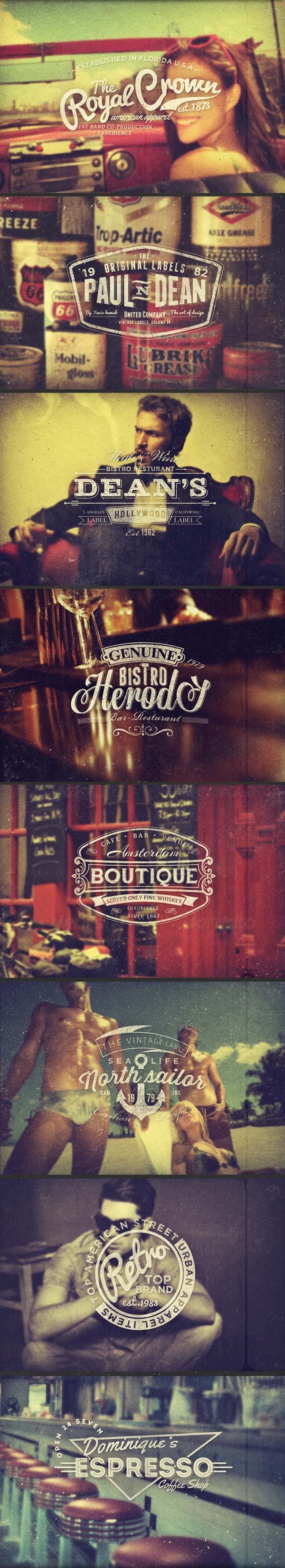Vintage Labels Vol. 4 by Yaniv Kamak