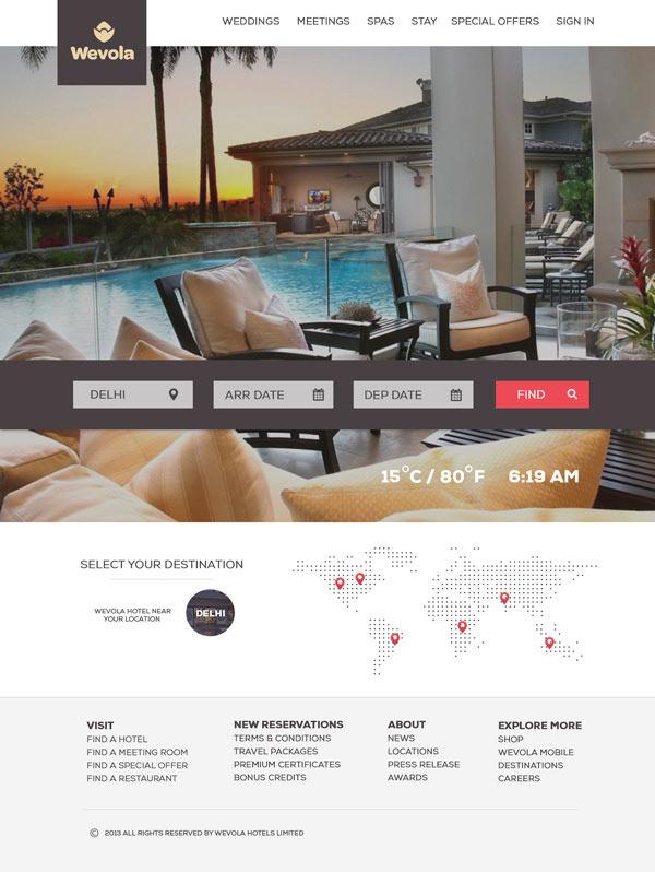 Wevola Group - Hotel Website Design by Jekin Gala