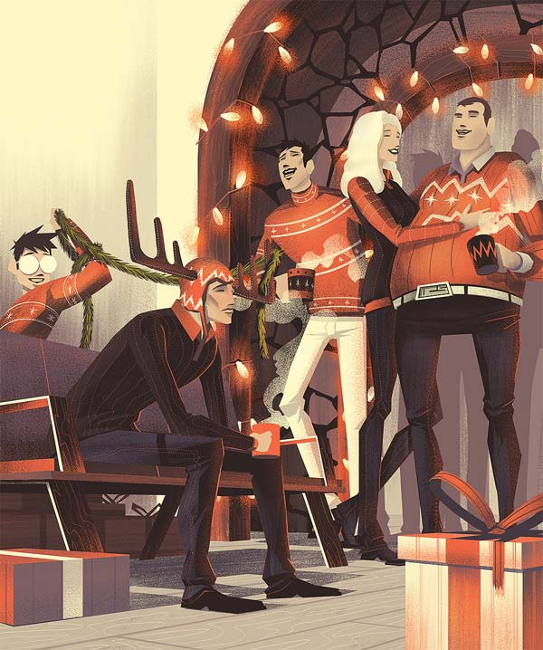 GQ Magazine Germany · Christmas Illustration by Brian Miller
