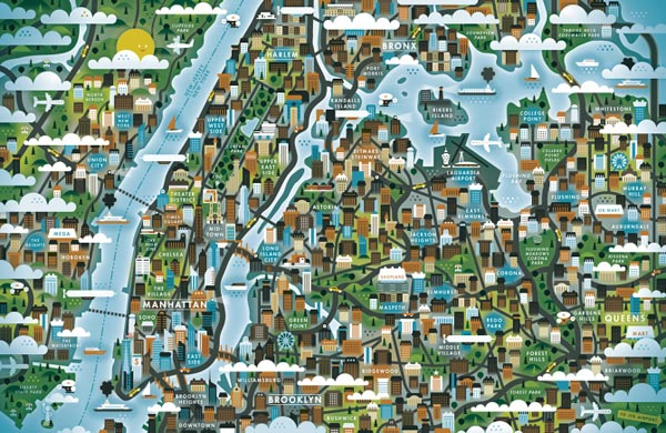 A Map of New York City for The Good Life