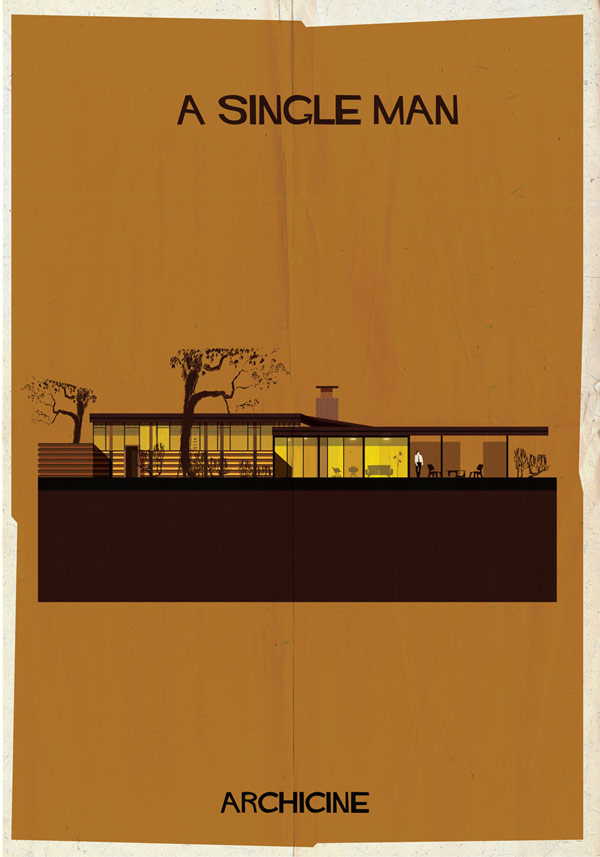 A Single Man - ARCHICINE Movie Poster by Federico Babina