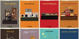 ARCHICINE Movie Poster Series by Federico Babina