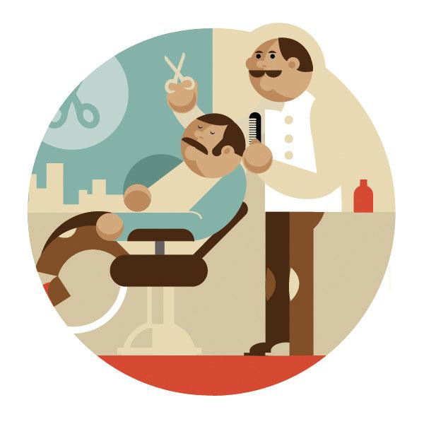 Barber Shop Illustration by Dylan Jones