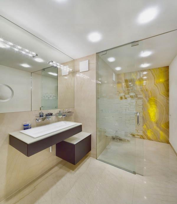Bathroom of the Villa in Decín, Czech Republic by Studio Pha