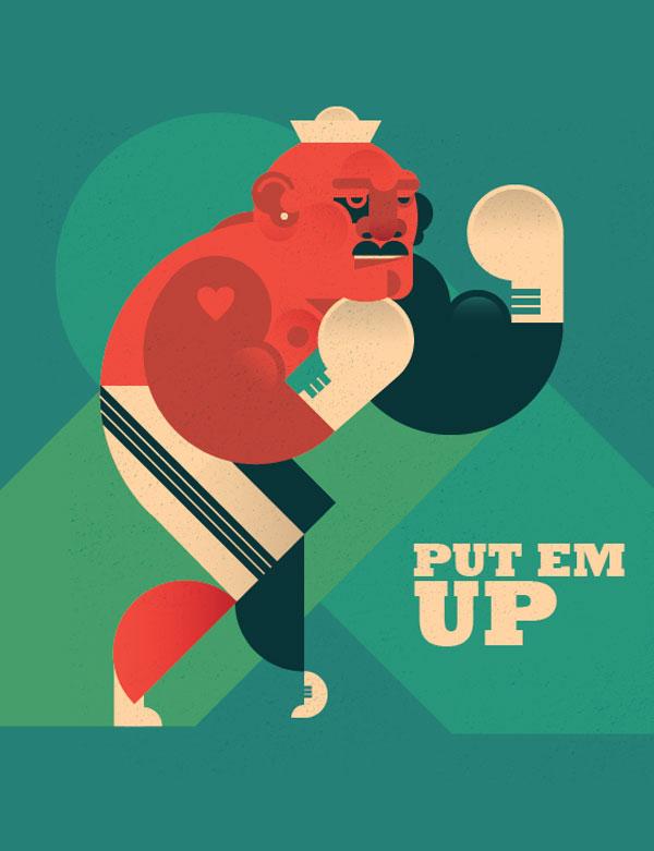 Boxer Illustration by Dylan Jones
