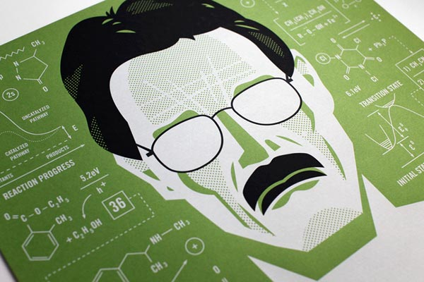 Breaking Bad Poster Illustration - close up