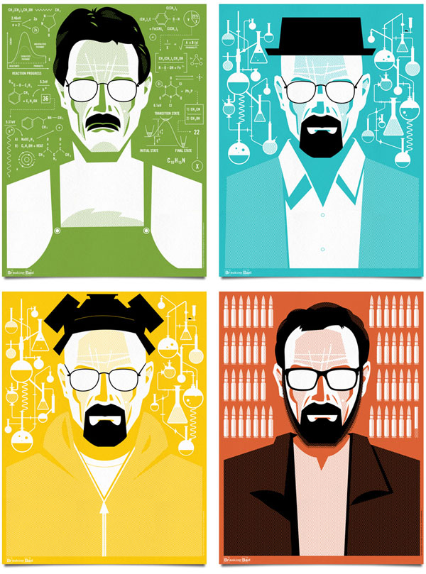 Breaking Bad Poster Illustrations by Mattson Creative